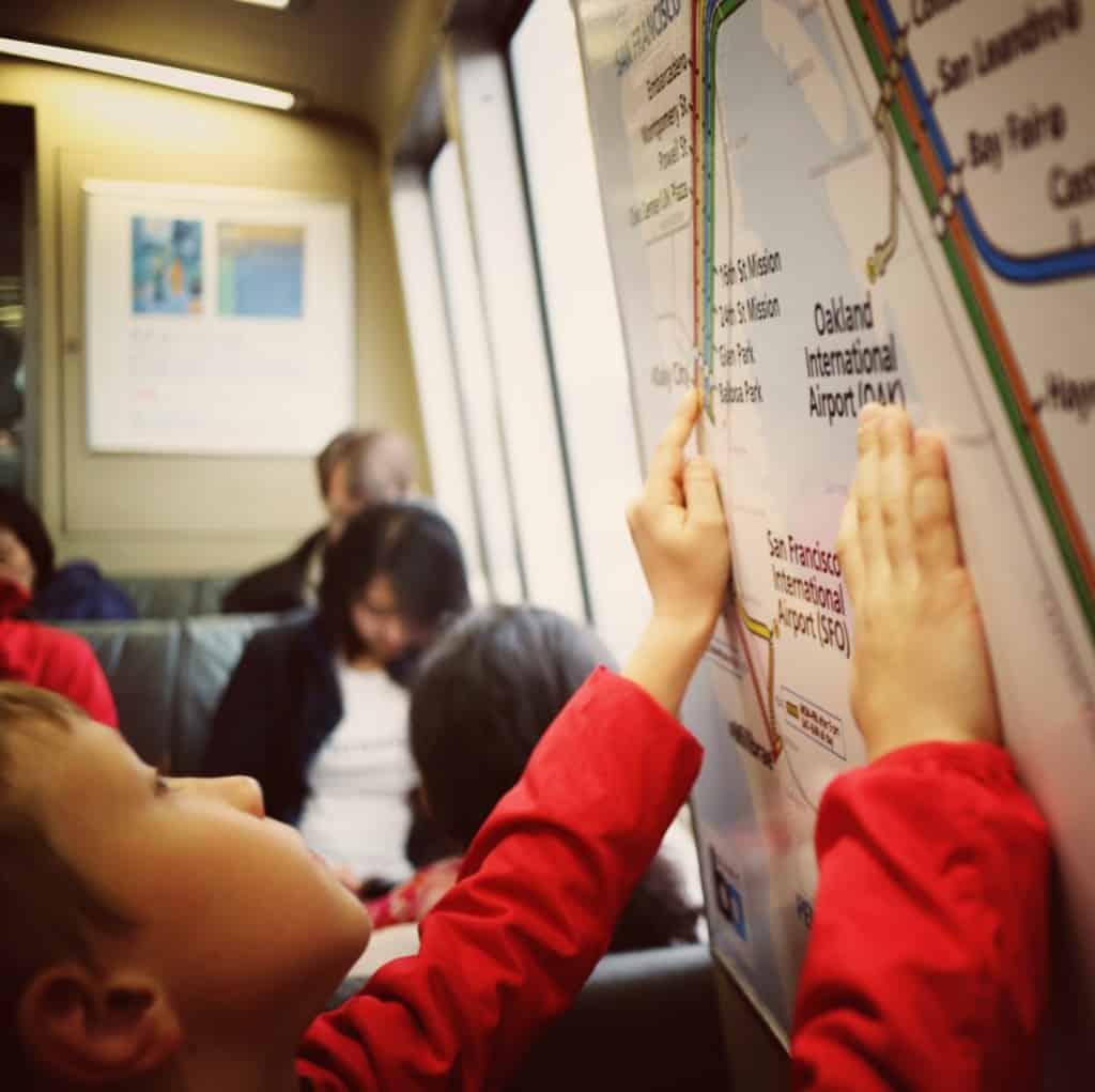 Za transport do centra smo uporabili železnico Bart (San Francisco)