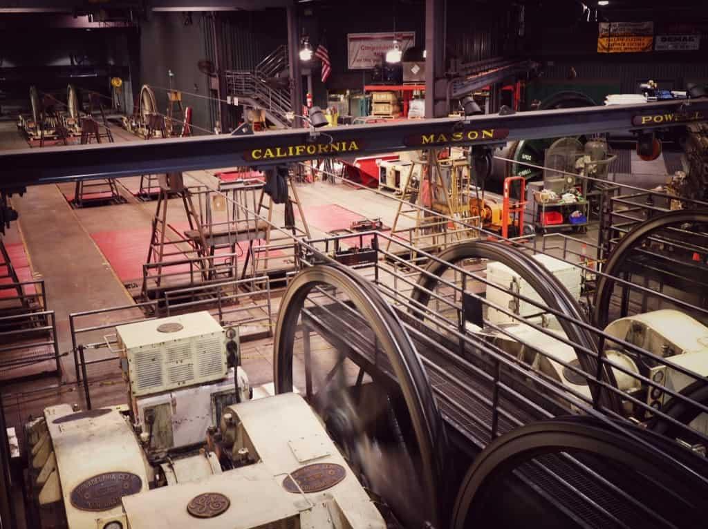 Cable car museum (Potovanje z otroki po Kaliforniji)