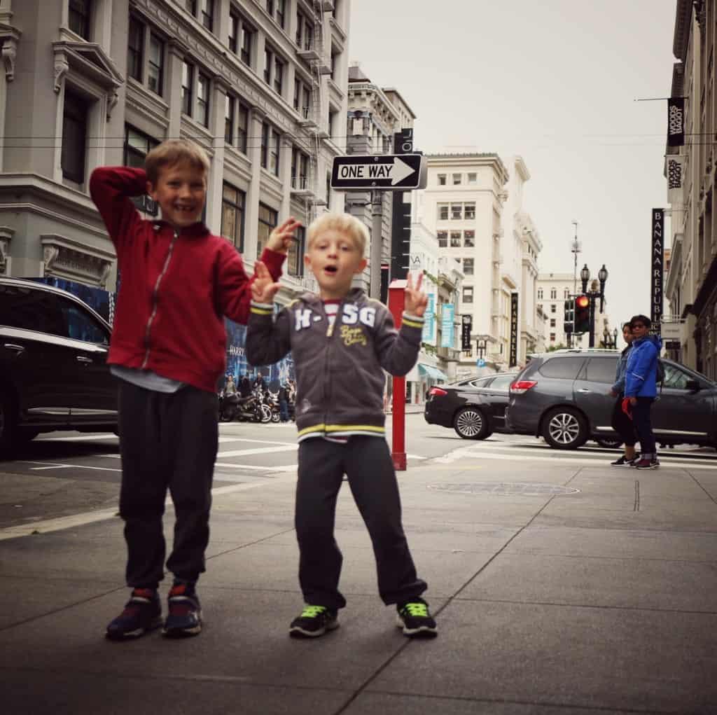 prehod po San Franciscu (Potovanje z otroki po Kaliforniji)