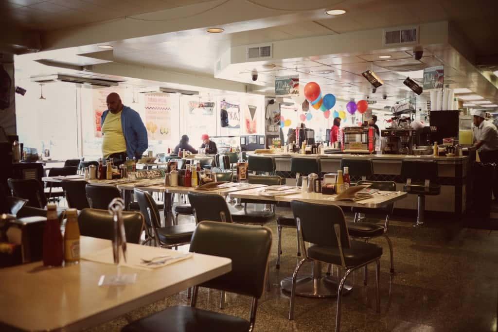 Ameriška restavracija v stilu 60-ih