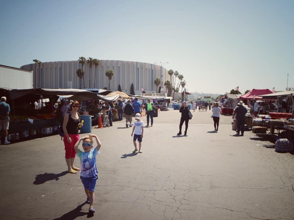Kobey's swap meet, San Diego (Potovanje z otroki po Kaliforniji)