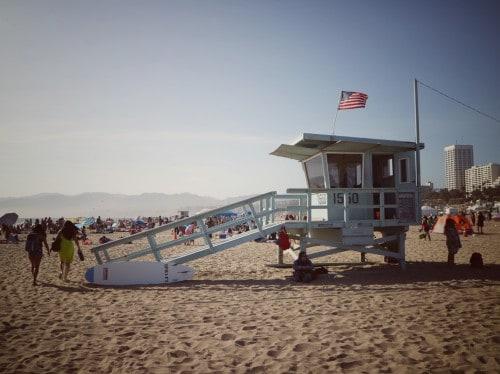 Znamenita plaža (Potovanje po Kaliforniji)
