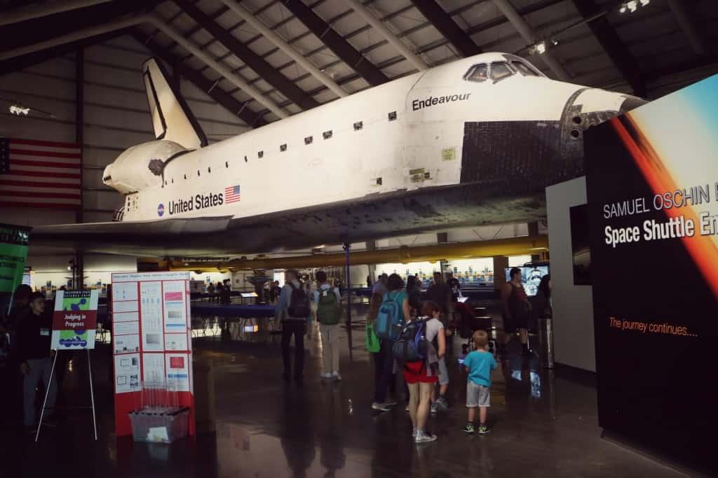 Space Shuttle Endevour (potovanje z otrokom po Kaliforniji)