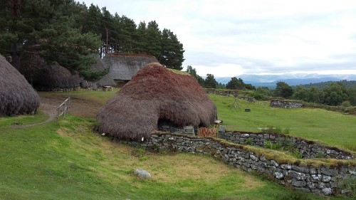 Srednjeveška vas, Škotska z otroki