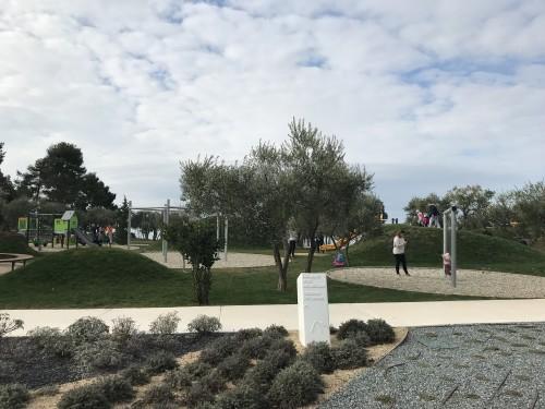 Urejen park in zeliščni vrt (hotel Amarin, Rovinj)