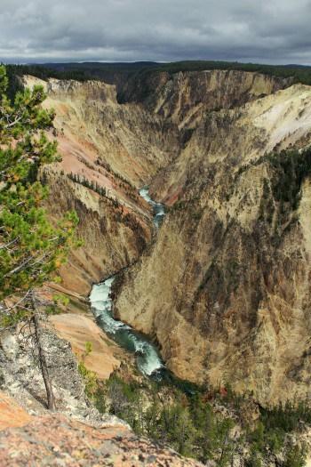Pogled na reko v Yellowstonu (družinsko po narodnih parkih ZDA)