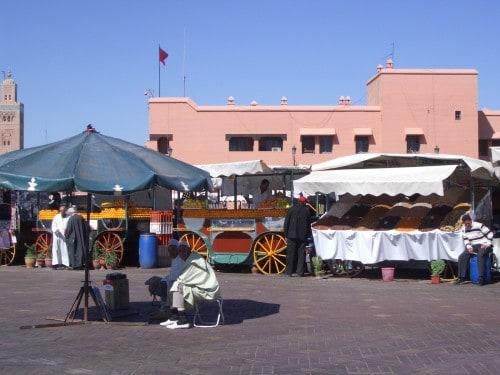 Znameniti Jemal el Fna v Marakešu