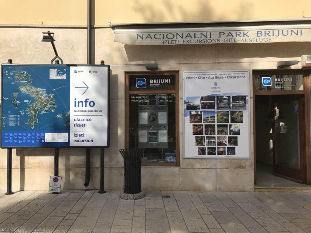 Karte za NP Brioni lahko kupite v informacijskem središču v Fažani, Hrvaška
