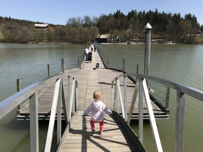 Doživetje ma mostu čez jezero, Šmartinsko jezero pri Celju
