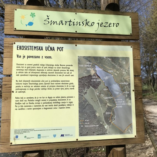 Ekosistemska učna pot, Šmartinsko jezero pri Celju