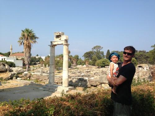 Antična agora na otoku Kos, top družinska destinacija