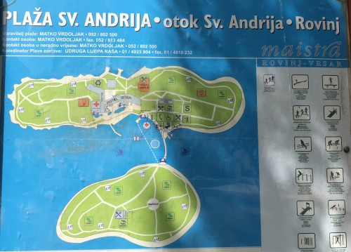 Otok sv. Andrije je z nasipom povezan z otokom Mašun