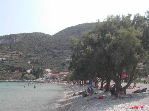 Plaža Keri - ena redkih z nekaj naravne sence (Zakintos, Grčija)