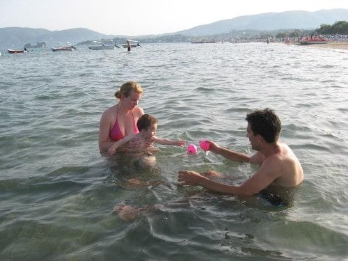 Plaža Laganas - zelo primerna za majhne otroke (Zakintos, Grčija)
