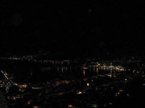 Pogled iz Bochalija na glavno mesto Zakintos, Grčija
