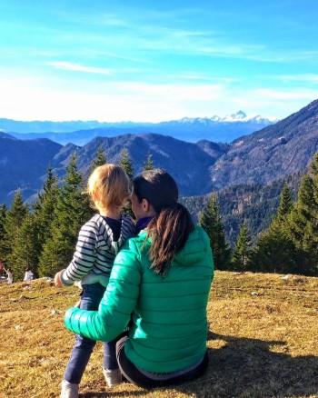 Nuša se z družino rada odpravi tudi v gore (Kofce)