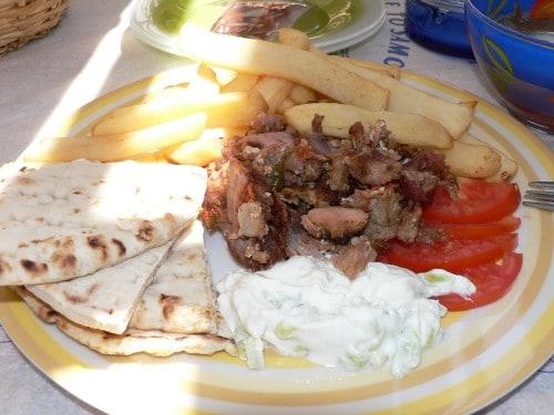 Vedno okusni grški giros, otok Samos