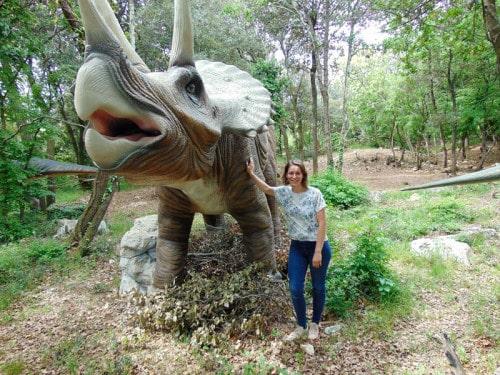 Ob triceratopsu v Dinoparku
