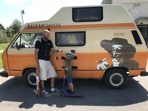 Vsak član družine si je izbral po eno aktivnost na našem road tripu z Balkan Campers
