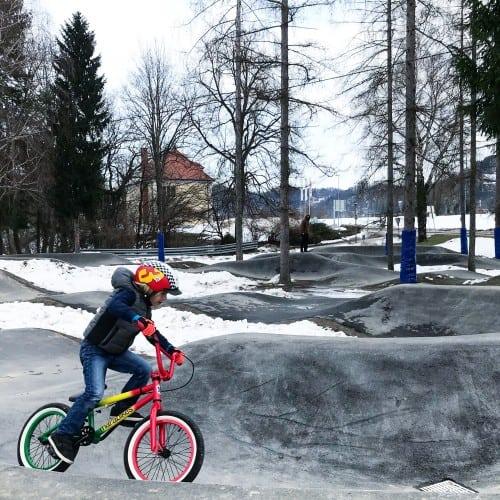Pumptrack v Rušah trenutno velja za največjega v Sloveniji