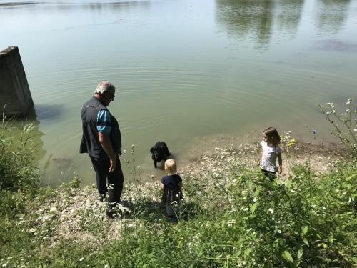 Igra in opazovanje živali, še posebej ptic ob ribniku Vrbje