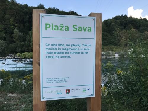 Plaža Sava ni kopališče, zato previdno, če bodo mulci izskali osvežitev