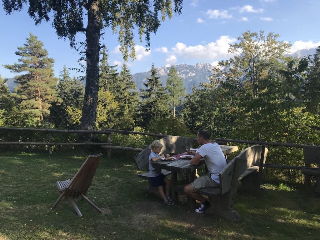 Kosilo v objemu gora v Planisnkem domu Majerhold, Solčavska panoramska cesta