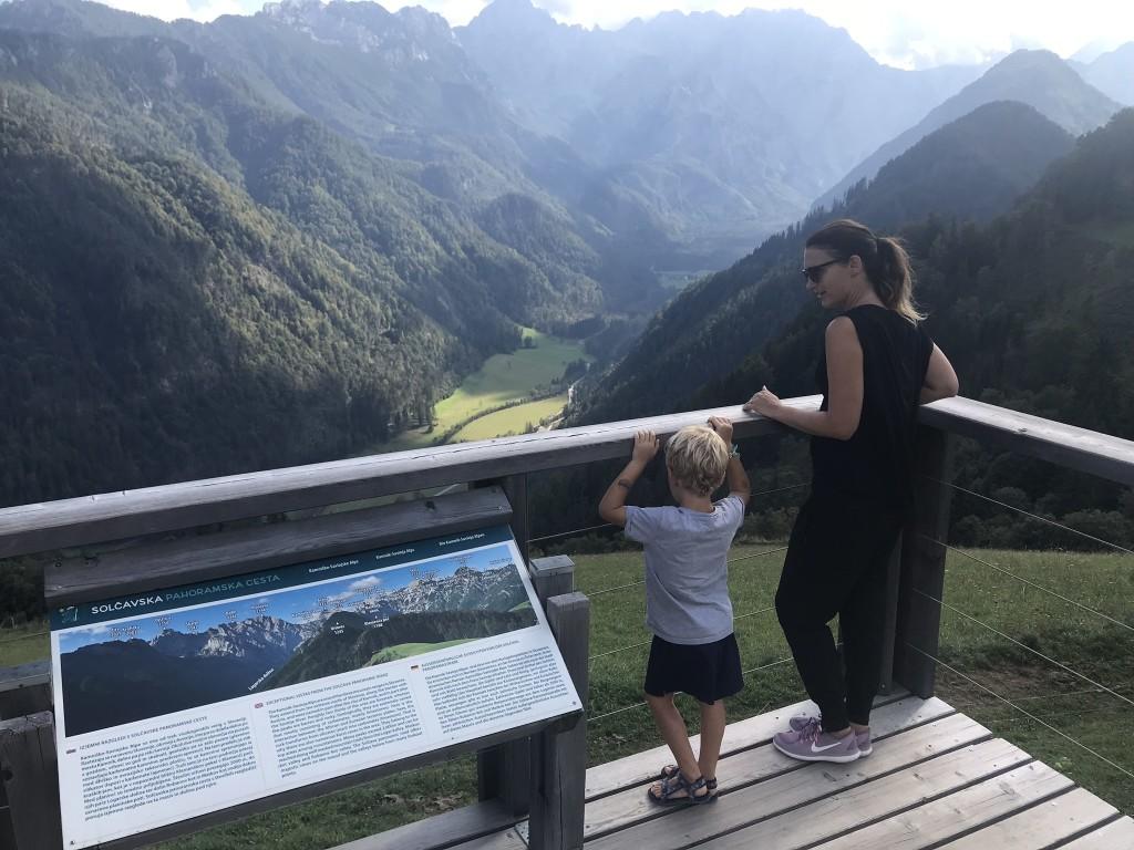 Razgled s postojanke Klemenškova kmetija, Solčavska panoramska cesta