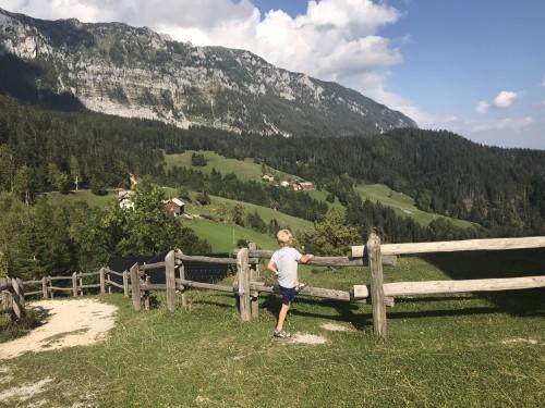 Pogled s Cerkvice Sv. Duha, Solčavska panoramska cesta
