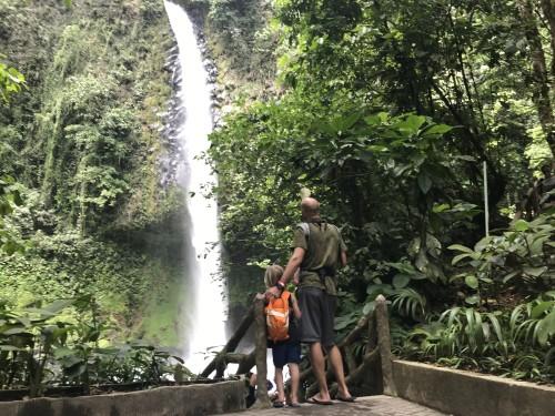 Ogled slapa v La Fortuni, Kostarika