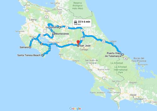 Naša pot po Kostariki