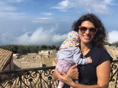 Visoko nad morjem, Erice (Sicilija z dojenčkom)