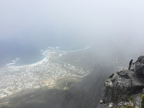 Vreme na gori Table Mountain se hitro spreminja, Cape Town