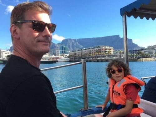 Ogled V&A Waterfront iz ladjice, Cape Town