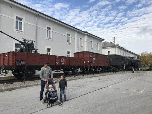 Vojaška lokomotiva v Parku vojaške zgodovine, Pivka