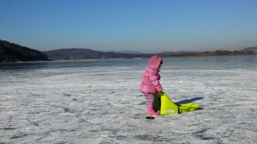 Najlepše je na Cerkniškem jezeru dopoldne, na lep, hladen, sončen dan